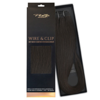 Poze Standard Wire & Clip Extensions - 130g Midnight Brown 1B - 50cm