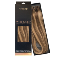 Poze Standard Wire & Clip Extensions - 130g Sandy Brown Mix 10B/7BN - 50cm